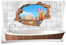 Fliesenaufkleber Fliesenbild Wanddurchbruch Aufkleber Strand Urlaub Cocktail