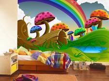3D Mushrooms Rainbow 7 Wall Paper Murals Wall Print Wall Wallpaper Mural AU Kyra