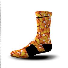 Custom Nike Elite Socks All Sizes CANDY CORN