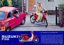 SUZUKI Brochure F50 1969 1970 1971 1972 Scooter Sales Catalog ORIGINAL OEM