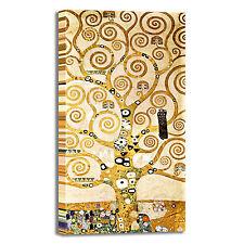 Gustav Klimt albero della vita yellow quadro stampa tela dipinto arredo casa