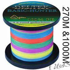 DELTEX BASIC HUNTER MULTI COLOR 270M &1000M 4 X RUND GEFLOCHTENE ANGELSCHNUR SHA