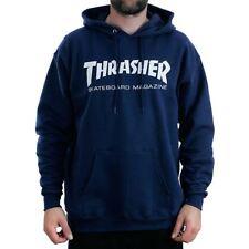 Thrasher Magazine Navy Skate Mag Logo Hooded Sweatshirt Hoodie Official Stockist