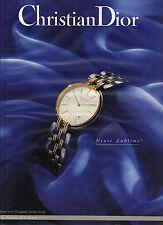 PUBLICITE  ADVERTISING  1998     DIOR  boutique montre