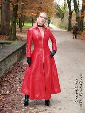 Ledermantel Leder Mantel Rot Knöchellang Figurbetont Größe 32 - 58 XS - XXXL