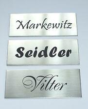 Edelstahl,V2A,Klingelschild,Namensschild,Türschild, Briefkastenschild, 80x35 mm