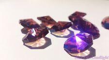 50x 14mm CRYSTAL OCTAGON beads ABVIOLET 1H suncatcher supplies craft  pendant