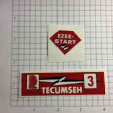 Tecumseh 3-hp decal H30 Lightning bolt Ezee-Start Tr30
