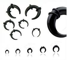Un piercing ècarteur ou expandeur Bufallo noir de 2 mm à 8 mm