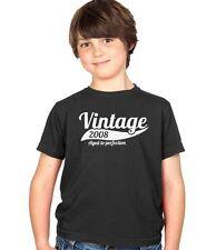 Vintage 2008 7th Anniversaire Enfants Cadeau F?te Gar?ons Filles T Shirt