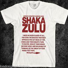 Shaka Zulu T-shirt, Malcolm X, MLK, Ferguson, Mike Brown, Nelson Mandela, new
