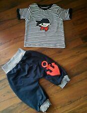 """Set aus T-Shirt + kurze Pumphose """"Pirat """"in d. Gr.62/68* 74/80* 86/92*98/104 Neu"""