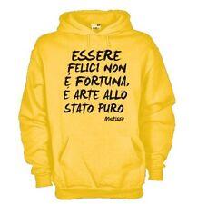 Felpa KJ212 Renè Magritte, Essere Felici non è fortuna è arte allo stato puro