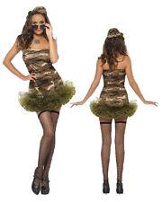 Costume Carnevale Donna Divisa Militare Tutu' dress smiffys  *20048