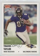 2003 Fleer Platinum #156 Travis Taylor Baltimore Ravens Football Card