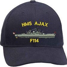 HMS Ajax F114 Leander Class Embroidered Baseball Caps