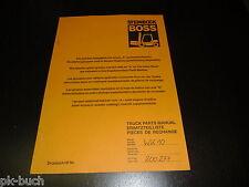 Ersatzteilliste ET Katalog Boss Gabelstapler Stapler Forklift Steinbock WK 10!
