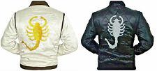 Drive Movie Ryan Gosling Slim Fit Trucker Scorpion Mens Satin Jacket - BEST SALE