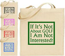 Se la sua non sul Golf Grande Cotone Tote Shopping Bag Compleanno Papà regalo divertente natalizio