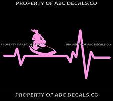 VRS HEART BEAT LINE JET SKI PWC Water Craft Girl Waverunner CAR VINYL DECAL