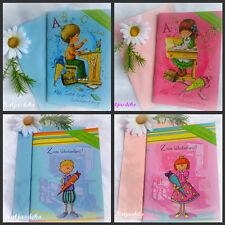 Glückwunschkarte Geschenk Einschulung  Mädchen Jungs
