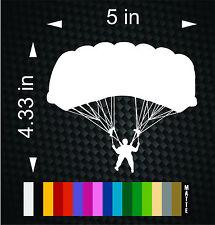 Skydiver Sky Diver Dive Skydive skydiving parachute Sticker Window Decal Vinyl
