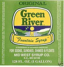 Green River * Soda Fountain Syrup - 4 gallons