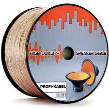 Lautsprecherkabel 2 x 0,75/1,5/2,5/4,0 mm² Hifi Audio Boxen Kabel 25/ 50 / 100 m