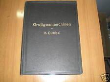 GROBGASMASCHINEN von HEINRICH DUBBEL - 1910 - HOEPLI