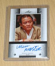 2011 LEAF Poker autograph parallel Men Master Nguyen 3/5