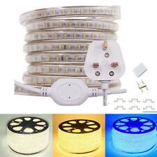 Led Strip Light 3014 120LED/m IP67 Waterproof White With UK Power Plug AC 220V
