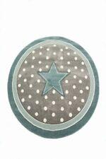 Tapis pour enfants Tapis de maternité Tapis de sol rond Star en Turquoise Gris