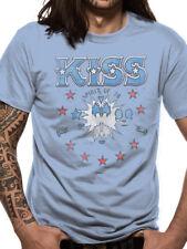 Official T Shirt KISS- SPIRIT OF 76 All Sizes Blue Mens Licensed Merch New