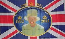 Queen Elizabeth II Diamond Jubilee 60TH Anniversary 1952-2012 FLAG