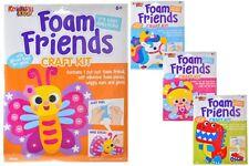 Childrens Craft Kits - Foam Friends - 4 Designs - Glitter & Gems