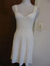 Guess women's white crochet bordeaux dress Medium, Large retail value $108 NWT