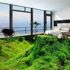 Green Nature Grass Moss 3D Floor Mural Photo Flooring Wallpaper Home Wall Decal
