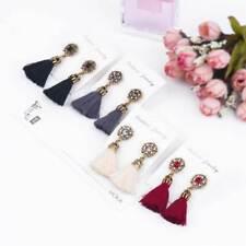 Tono Oro Cristal Gema Gota Colgante Stud Con Borlas Earrings Joyas vendedor del Reino Unido ER90