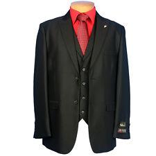 NWT LUXURY MEN'S SUIT BY FALCONE 5106-000 BLACK COLOR 3PC SET REG.$399