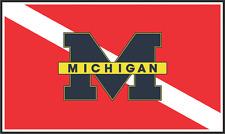 Michigan Dive Flag Decal / Sticker 200-81