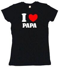 I Heart Love Papa Womens Tee Shirt Pick Size Color Petite Regular