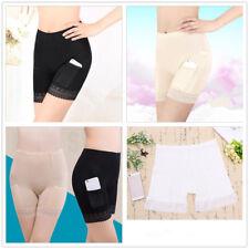 Women Modal Long Leg Briefs with Pockets Underwear Pettipants Knickers
