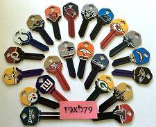 NFL Officially Licensed Football Team Key Blank, Kwikset KW1, 66