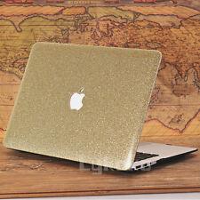 "Glitter Gold Bling Shiny Diamond Matte Case for MacBook Air Pro 13"" 13.3""+R"