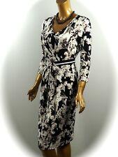 Kleid Stretch Heine Hahnentritt Muster Jersey schwarz weiß Gr 38  40 42 44