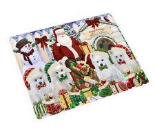 Holidays Christmas American Eskimos Dog House Gathering Cutting Board C57837