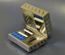 Impianto Dentale Accessori Sterilizzazione Cassetta Con Divisori A Tubo CE Nuovo