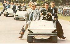 PRESIDENT REAGAN DRIVING A GOLF CART 1981 IN OTTAWA CANADA(CL127*)