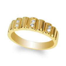 JamesJenny Yellow Gold Plated Round CZ Stylish Band Ring Size 4-10
