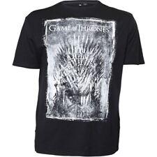Replika Algodón Premium Juego de Tronos Camiseta Estampada Negro